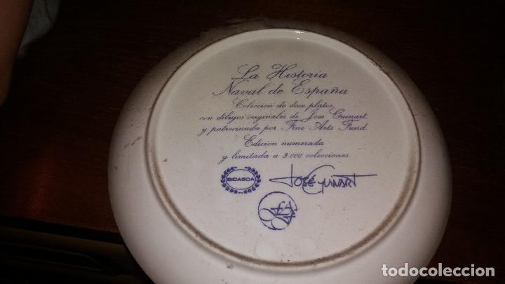 Antigüedades: Colección Completa 15 Platos BIDASOA barcos J. Guinart * Historia Naval España * Edicion limitada - Foto 2 - 68179089