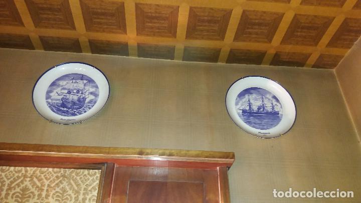 Antigüedades: Colección Completa 15 Platos BIDASOA barcos J. Guinart * Historia Naval España * Edicion limitada - Foto 4 - 68179089
