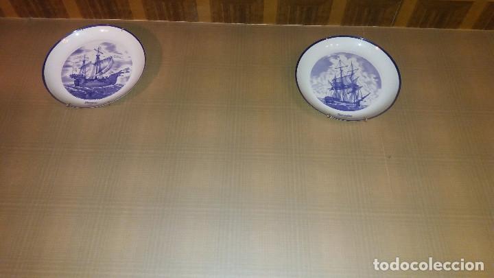 Antigüedades: Colección Completa 15 Platos BIDASOA barcos J. Guinart * Historia Naval España * Edicion limitada - Foto 5 - 68179089