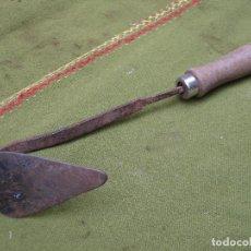 Antigüedades: AMOCAFRE ANTIGUO EN HIERRO FORJADO - ETNOGRAFIA.. Lote 192185546