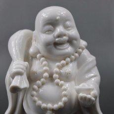 Antigüedades: PRECIOSO BUDA BUDDHA DE GRAN CALIDAD, PORCELANA DE DEHUA, BUDA RIQUEZA, MAITREYA BUDDHA. Lote 68202345