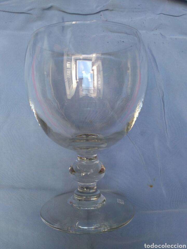 Antigüedades: Copa de cristal transparente del siglo XX - Foto 2 - 68224923