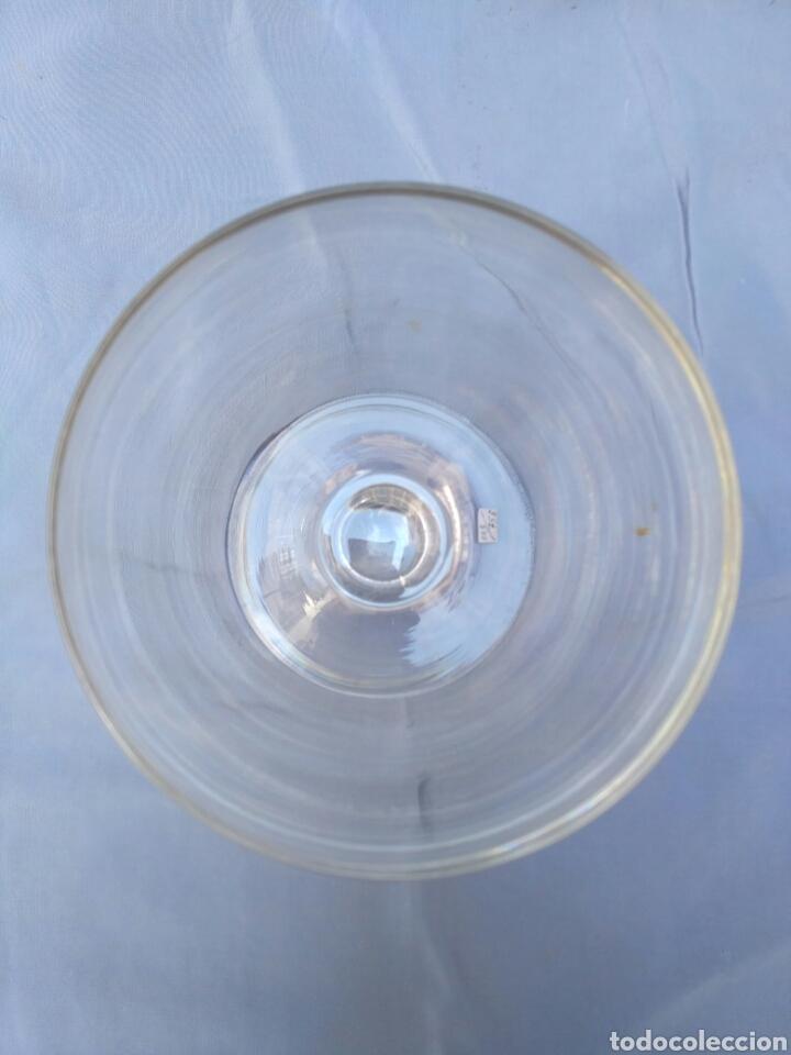 Antigüedades: Copa de cristal transparente del siglo XX - Foto 4 - 68224923