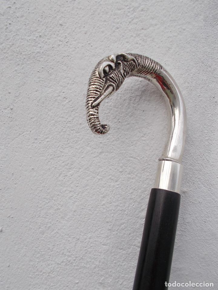 Antigüedades: baston cabeza de elefante - Foto 3 - 68242585
