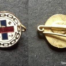 Antigüedades: PIN BROCHE ANTIGUO CRUZ INSIGNIA INFANTERIA MARINA ESMALTADA . Lote 68274417
