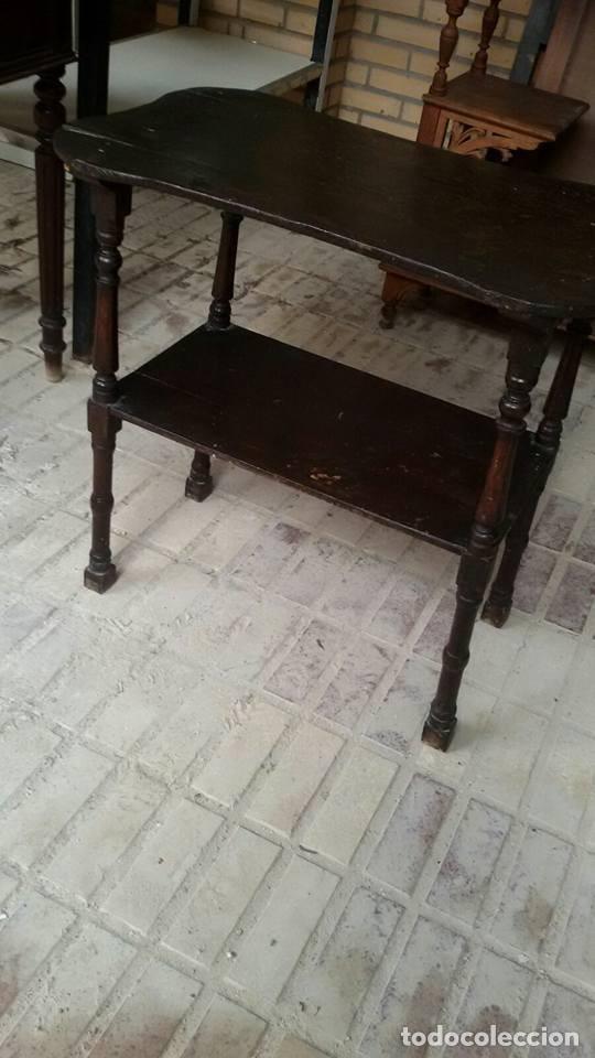 Antigüedades: mesa auxiliar antigua - Foto 3 - 68338357