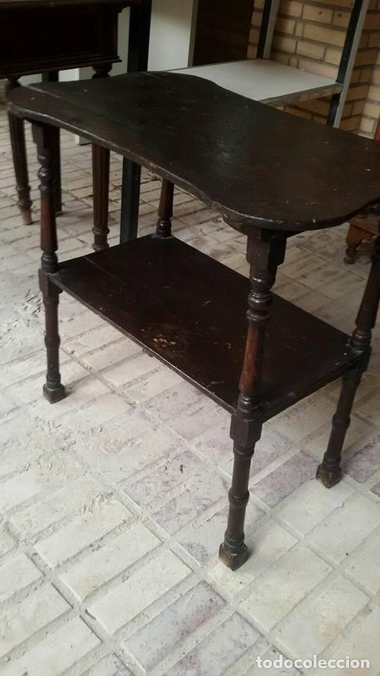 Antigüedades: mesa auxiliar antigua - Foto 4 - 68338357