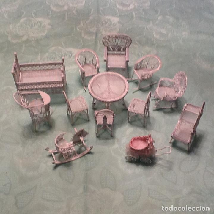 muebles de jardín en miniatura de casa de muñec - Comprar ...