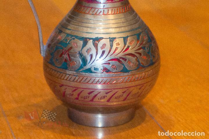Antigüedades: Jarrón dorado con motivos florales - India - Foto 2 - 68342637