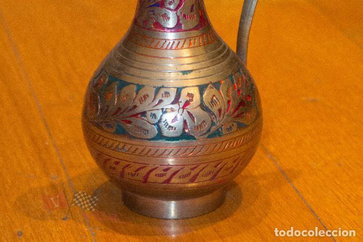 Antigüedades: Jarrón dorado con motivos florales - India - Foto 5 - 68342637