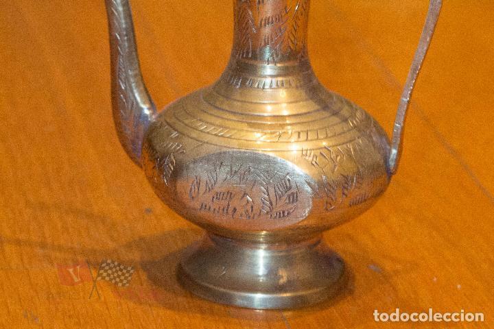 Antigüedades: Jarrón dorado con motivos florales - India - Foto 6 - 68342673