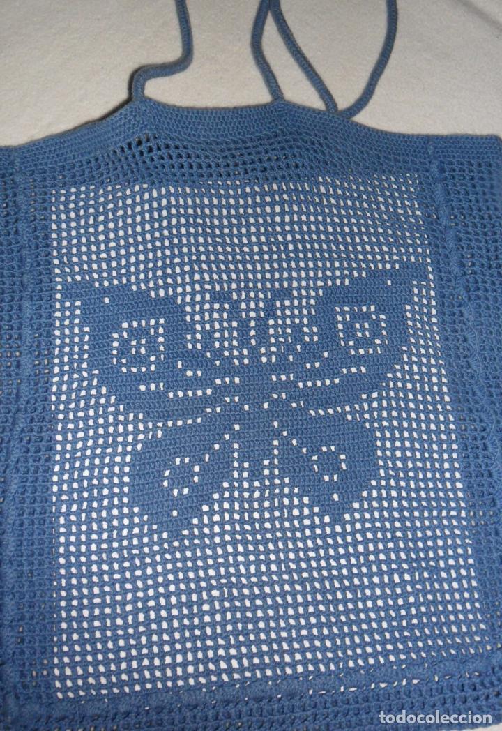 ANTIGUO BOLSO DE GANCHILLO (Antigüedades - Moda - Bolsos Antiguos)