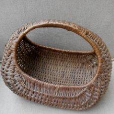 Antigüedades: ANTIGUO BOLSO CESTA DE MIMBRE . Lote 68358837
