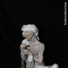 Antigüedades: FIGURA DE HINDÚ EN CERÁMICA DE AUTÉNTICA PORCELANA ALGORA DOCUMENTADA. PERFECTO ESTADO.. Lote 68359069