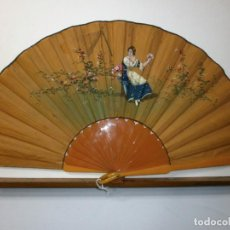 Antigüedades: ABANICO MODERNISTA PINTADO A MANO. Lote 68365033