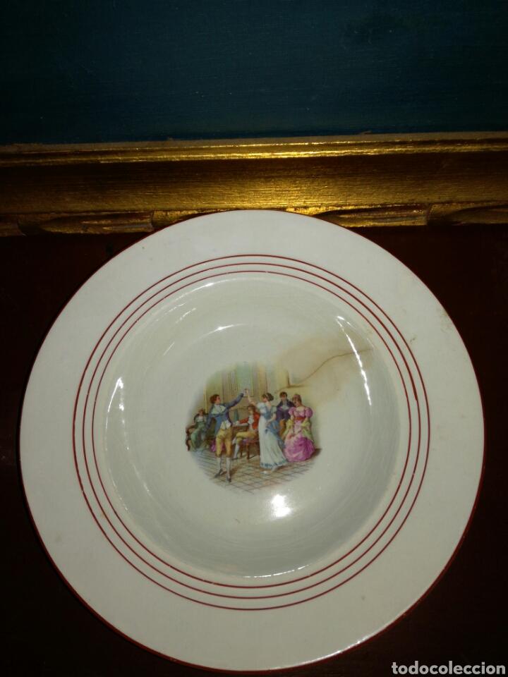 ANTIGUO PLATO CHINA OPACA SEVILLA (Antigüedades - Porcelanas y Cerámicas - San Juan de Aznalfarache)