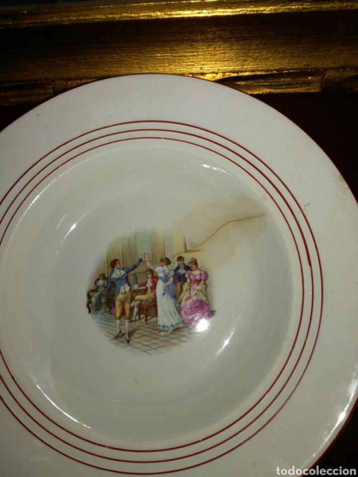 Antigüedades: Antiguo plato china opaca Sevilla - Foto 2 - 68382010
