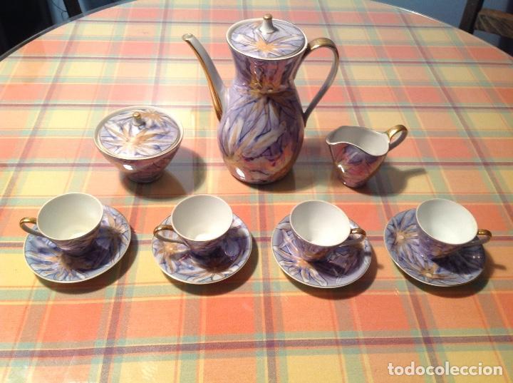 ANTIGUO JUEGO DE CAFÉ. SANTA CLARA VIGO (Antigüedades - Porcelanas y Cerámicas - Santa Clara)