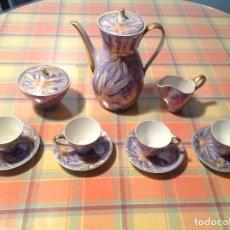 Antigüedades: ANTIGUO JUEGO DE CAFÉ. SANTA CLARA VIGO. Lote 98793756