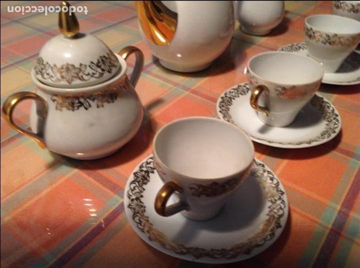 Antigüedades: ANTIGUO JUEGO DE CAFÉ. SANTA CLARA VIGO - Foto 3 - 68388513
