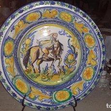 Antigüedades: PRECIOSO Y MONUMENTAL LEBRILLO PINTADO A MANO. Lote 68403509
