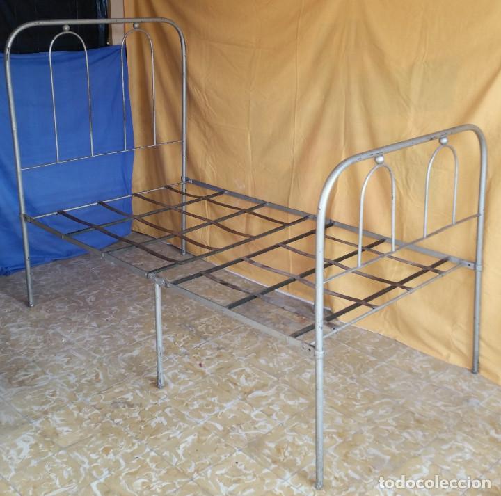 cama de hierro - años 50 - plegable - estructur - Comprar Camas ...