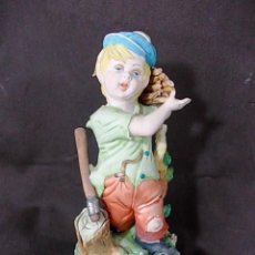 Antigüedades: ANTIGUA FIGURA EN PORCELANA ITALIANA FIRMADA TIZIANO. Lote 68457101