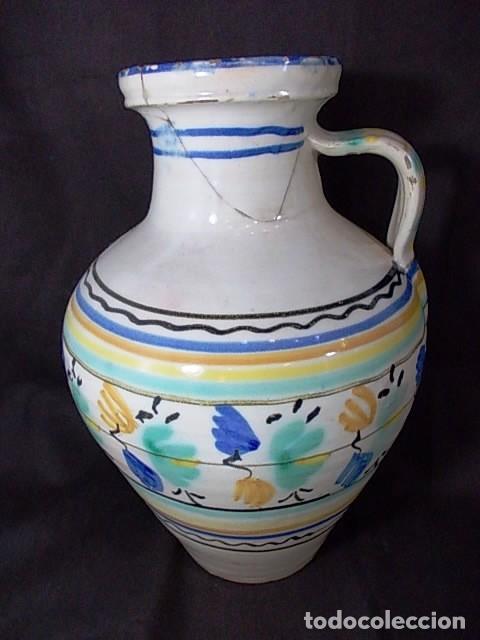 ANTIGUO CÁNTARO EN CERÁMICA DE TALAVERA (Antigüedades - Porcelanas y Cerámicas - Talavera)
