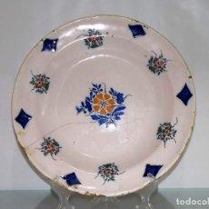 Antigüedades: PLATO ANTIGUO DE CERÁMICA LOZA MANISES. Lote 68478857