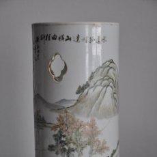 Antigüedades: ANTIGUA PORCELANA CHINA FAMILIA ROSA , ANCIENT POTTERY CHINESE FAMILLE ROSE BRUSH POTS. Lote 68500185