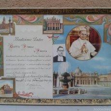 Antigüedades: BEATISIMO PADRE PAPA PABLO VI EN MARCADO EN CRISTAL. Lote 68526953