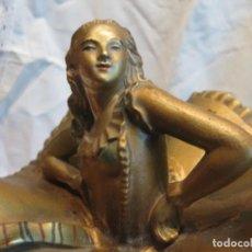 Antigüedades: FIGURA FEMENINA ART DECO POLICROMADA . Lote 68534937