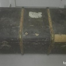 Antigüedades: ESPECTACULAR BAUL ANTIGUO. Lote 68578161