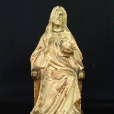 Antigüedades: SAGRADO CORAZÓN ENTRONIZADO - JESUCRISTO TRONO - TALLER EL BUEN PASTOR DE OLOT. Lote 68597805