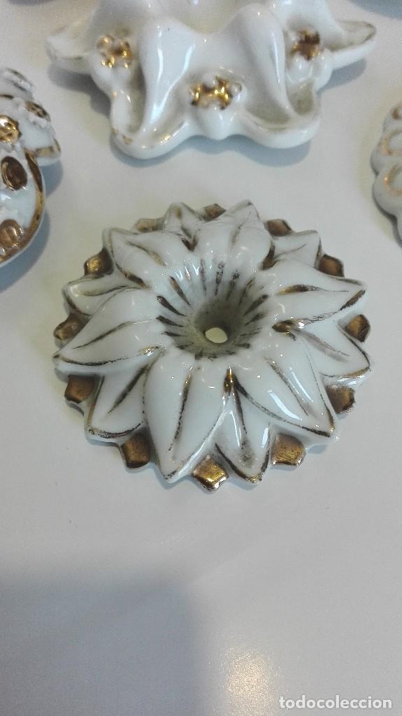 Antigüedades: Apliques o piezas de porcelana buena de lámparas o muebles - Foto 4 - 68647177