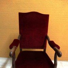 Antigüedades: SILLON ROBLE TAPIZADO. REF. 5945. Lote 68684561