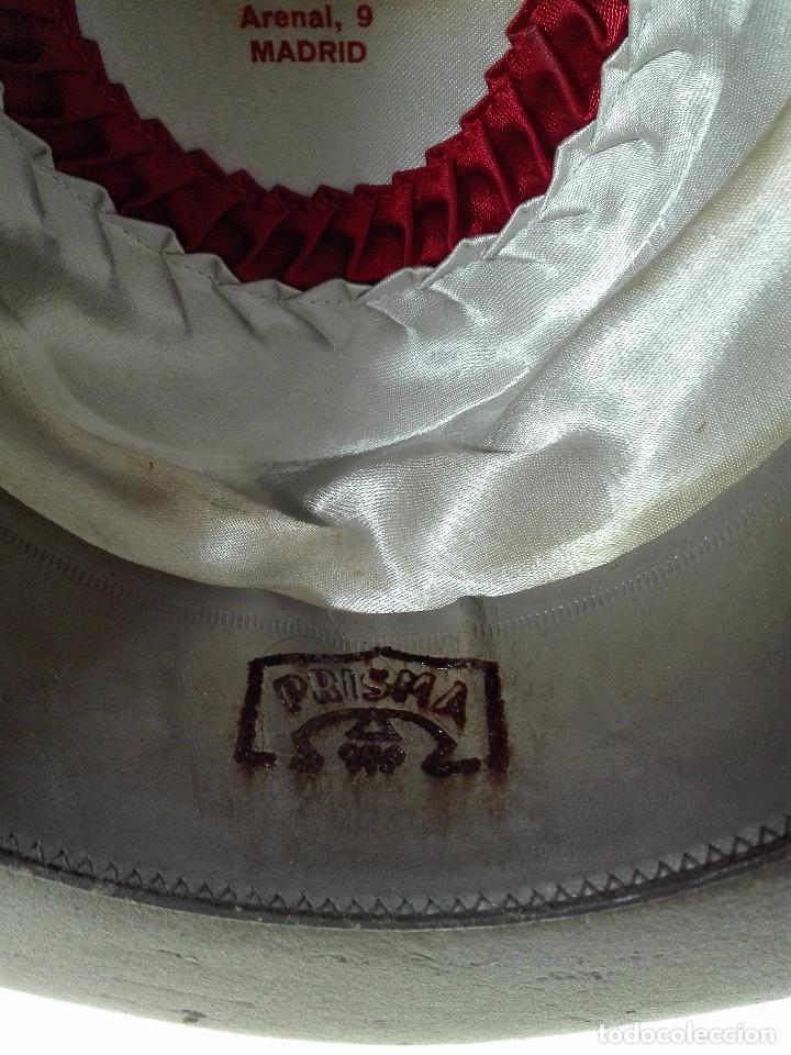 Antigüedades: BONITO SOMBRERO FLAMENCO DE LA CASA MOISES SANCHA - ARENAL, 9 - MADRID - PRISMA ORO - TALLA 57 - - Foto 8 - 68694241