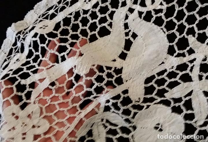 Antigüedades: Antiguo tapete de colección - encaje de bolillos - Foto 4 - 68708209