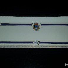 Antigüedades: BANDEJA DE PORCELANA SAN CLAUDIO.COLECCION COBALTO.. Lote 68721005