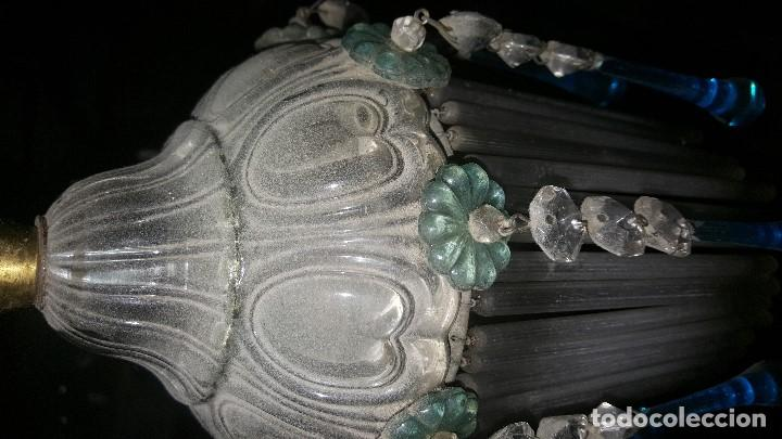 Antigüedades: LAMPARA CRISTAL - Foto 2 - 72662611
