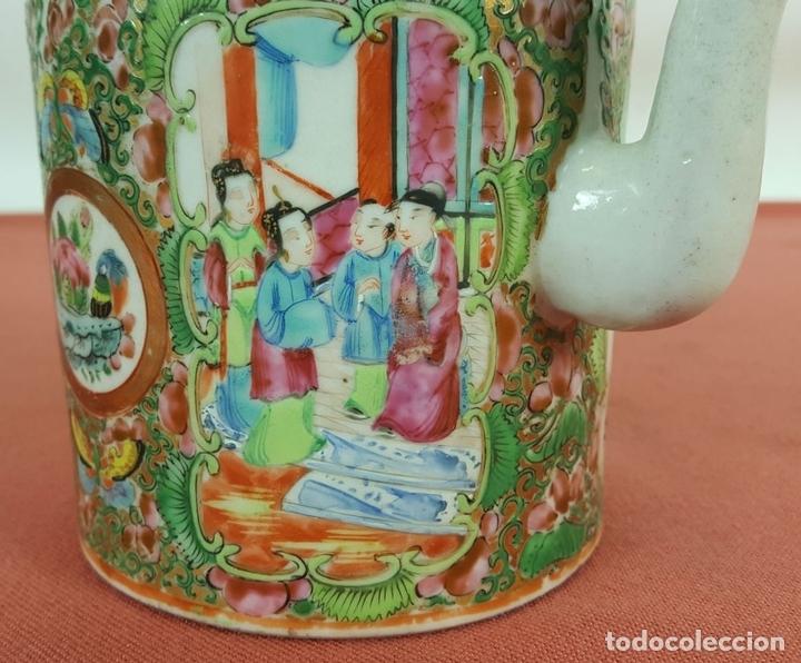 Antigüedades: TETERA CANTONESA. PORCELANA CHINA. ESMALTADA Y POLICROMADA. SIGLO XIX-XX. - Foto 11 - 68821841