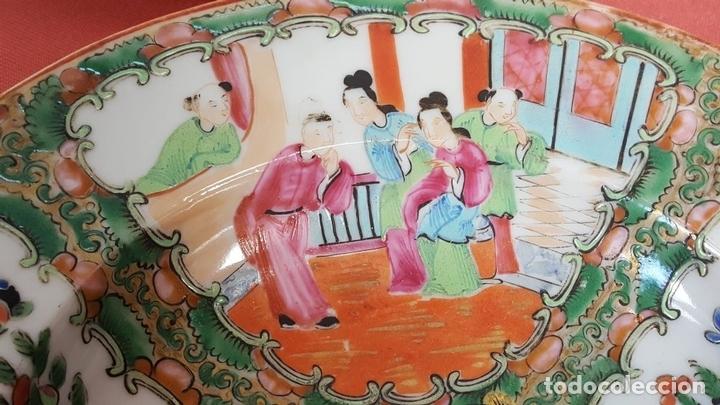 Antigüedades: JUEGO DE 14 PLATOS EN PORCELANA CHINA. CANTON. ESMALTADOS. SIGLO XIXI-XX. - Foto 2 - 68835141