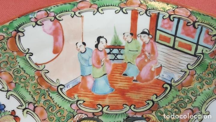 Antigüedades: JUEGO DE 14 PLATOS EN PORCELANA CHINA. CANTON. ESMALTADOS. SIGLO XIXI-XX. - Foto 6 - 68835141