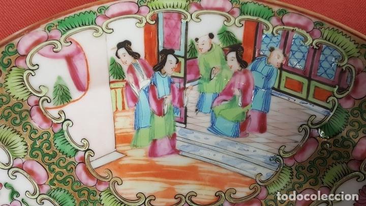 Antigüedades: JUEGO DE 14 PLATOS EN PORCELANA CHINA. CANTON. ESMALTADOS. SIGLO XIXI-XX. - Foto 8 - 68835141