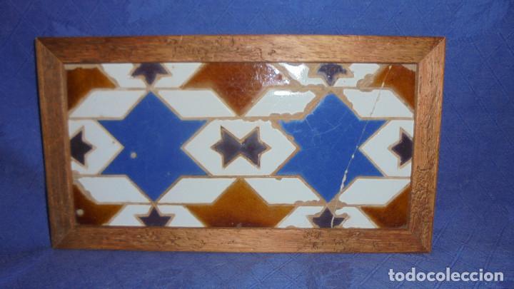 ANTIGUO AZULEJO DE TRIANA SIGLO XIX, MEDIDA AZULEJO SIN MARCO 14X28 CM. (Antigüedades - Porcelanas y Cerámicas - Triana)
