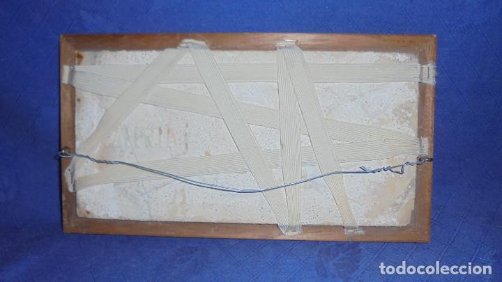Antigüedades: ANTIGUO AZULEJO DE TRIANA SIGLO XIX, MEDIDA AZULEJO SIN MARCO 14X28 CM. - Foto 3 - 68864005