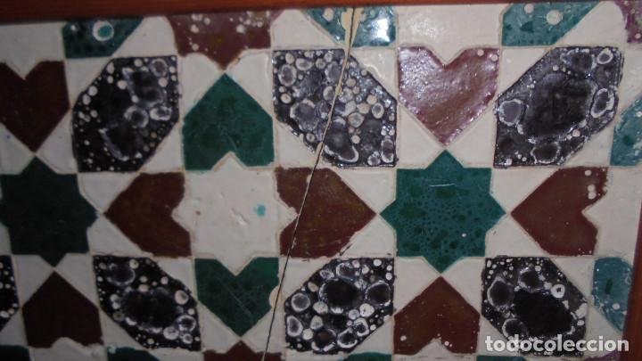 Antigüedades: ANTIGUO AZULEJO DE TRIANA SIGLO XIX, MEDIDA AZULEJO SIN MARCO 27X14 CM. - Foto 3 - 68864389