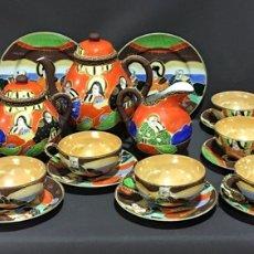 Antigüedades - Juego de cafe-te japones .Tazas porcelana cascara de huevo-29 piezas - 68864606