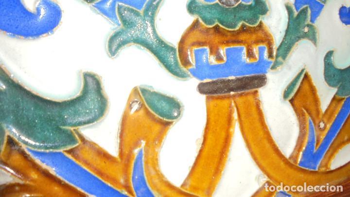 Antigüedades: ANTIGUO AZULEJO DE TRIANA SIGLO XIX, MEDIDA AZULEJO SIN MARCO 13X24 CM. - Foto 2 - 68864781