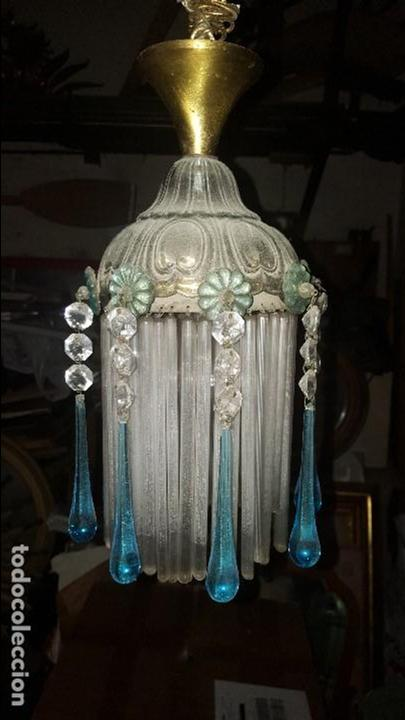 LAMPARA CRISTAL (Antigüedades - Iluminación - Lámparas Antiguas)